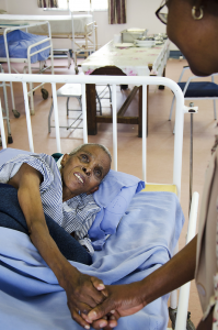 Patient being treated for HIV/AIDS in 2015 at the Springfield CAPRISA Research Clinic at King Dinuzulu Hospital in Durban, KwaZulu-Natal, South Africa.