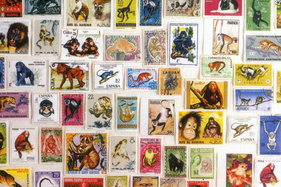Primate stamps